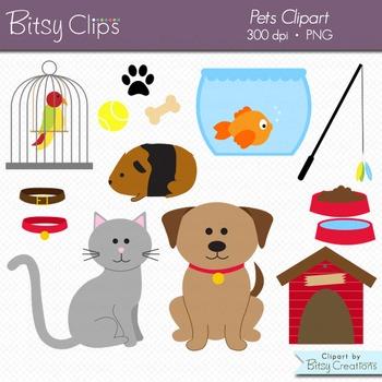 Pets Clipart Commercial Use Clip Art Digital Art Set.