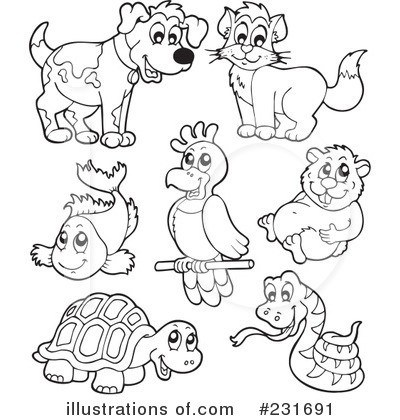 Pet animals clipart black and white 5 » Clipart Portal.