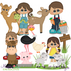 Petting Zoo SVG Cutting Files + Clipart.