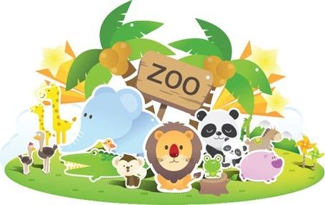 Petting Zoo Clip Art, Vector Petting Zoo.