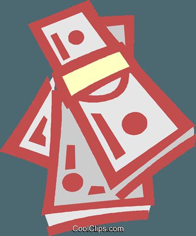 petty cash Royalty Free Vector Clip Art illustration.