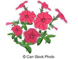 Petunias Vector Clip Art Royalty Free. 168 Petunias clipart vector.