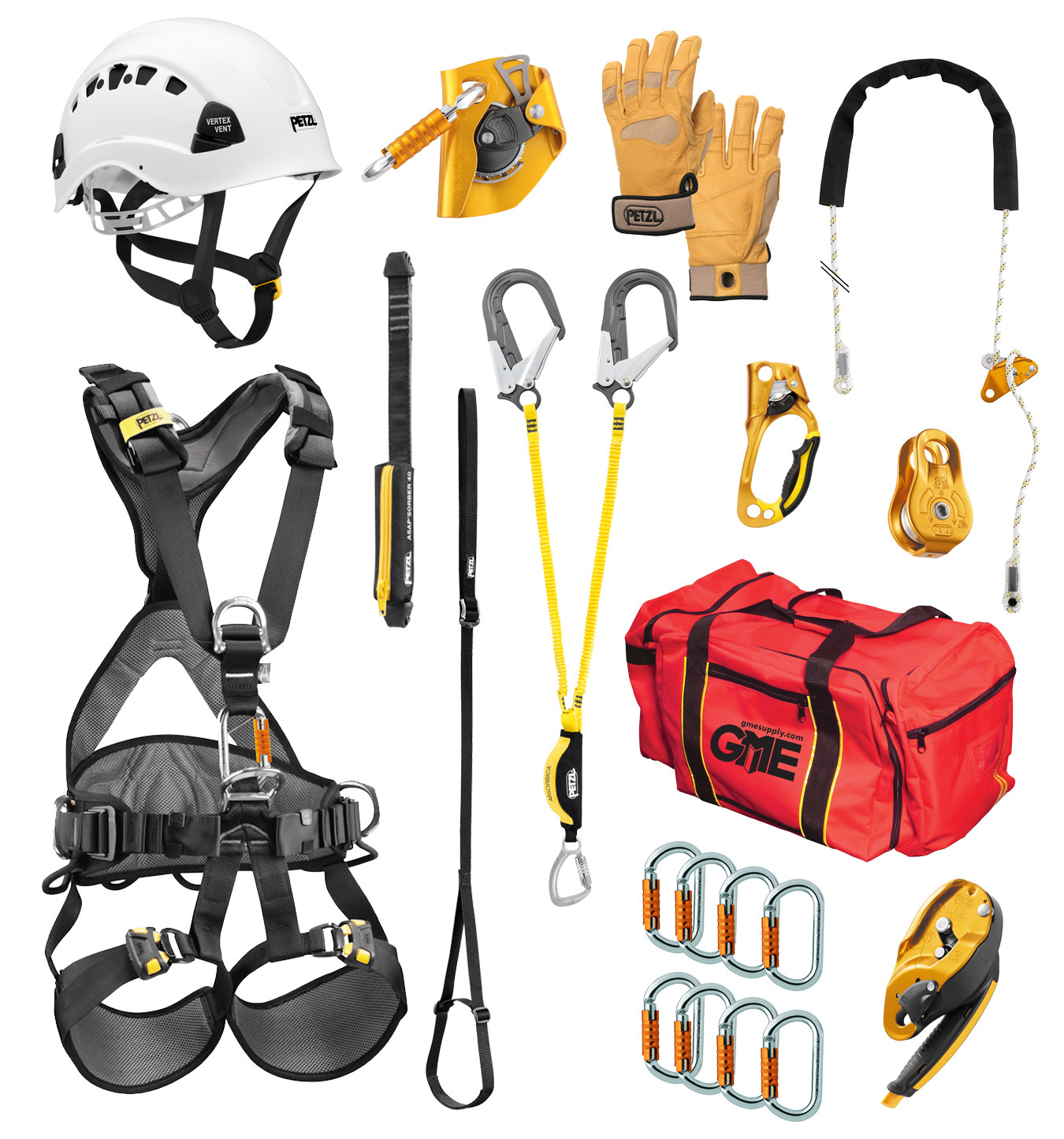 Petzl Tower Technician Safety Climbing and Protection Kit.