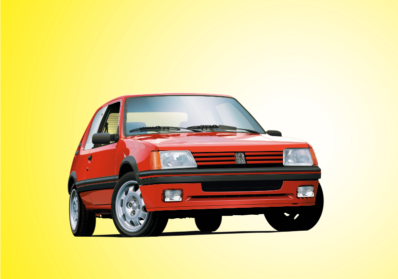 Free Clipart: Peugeot 205 GTI.