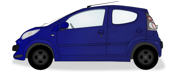Little Blue Car Clip Art at Clker.com.