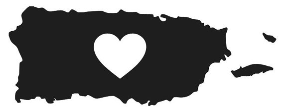 LOVE PUERTO RICO Vinyl Decal Sticker Island by RafysDecals on Etsy.