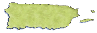 Puerto rico map clipart.