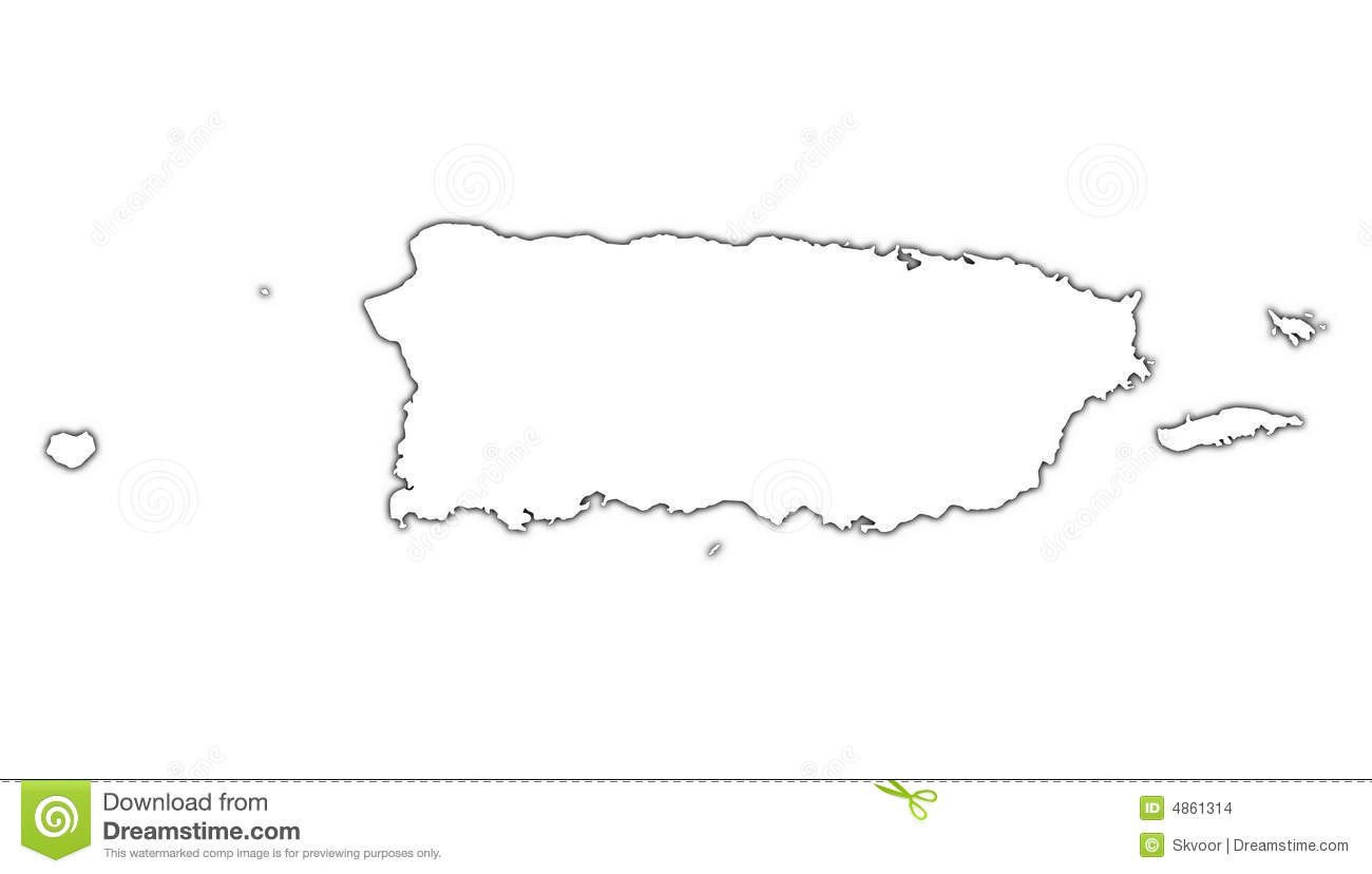 Puerto rico map clipart.