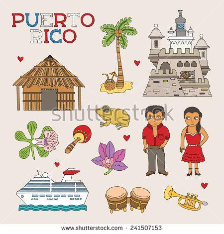Peurto rico island clipart #10