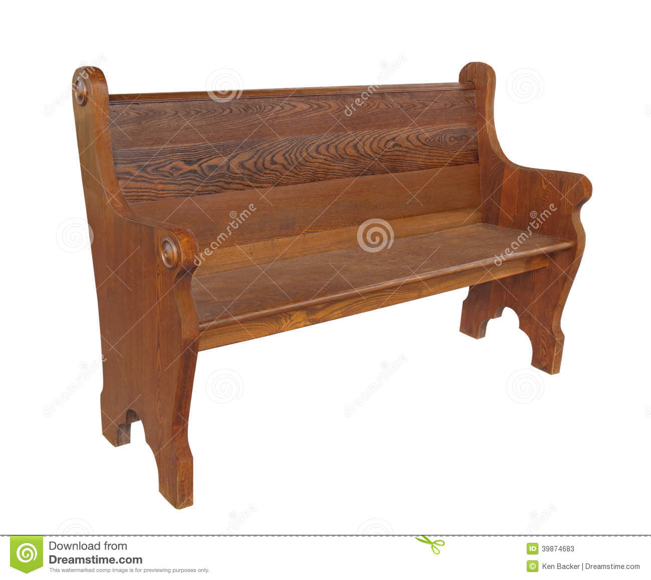 Old Wooden Pews In A Church Royalty Free Stock Photo.