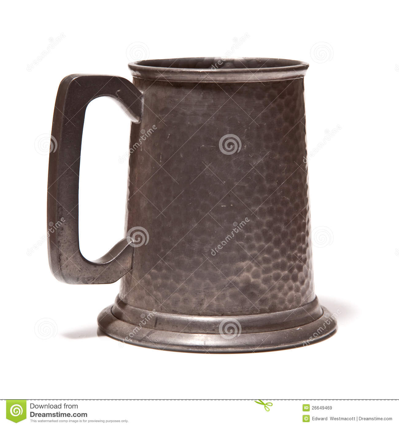 Pewter Beer Or Ale Tankard Stock Photography.