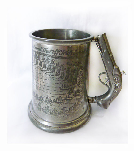 Vintage Pewter Tankard Mug Pint Bros Sheff Lord Nelson by Dollaris.