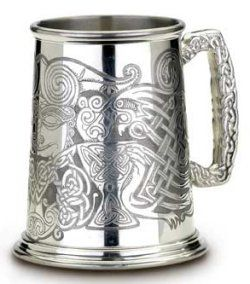 Cernumnos Celtic English Pewter Tankard.