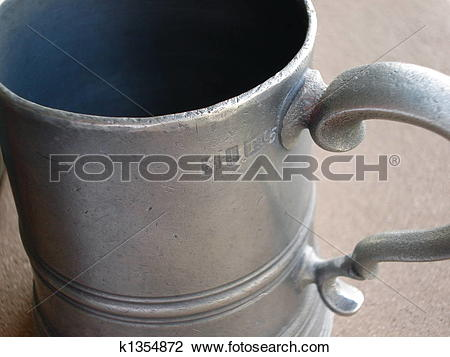 Stock Photo of Antique Pewter Mug k1354872.