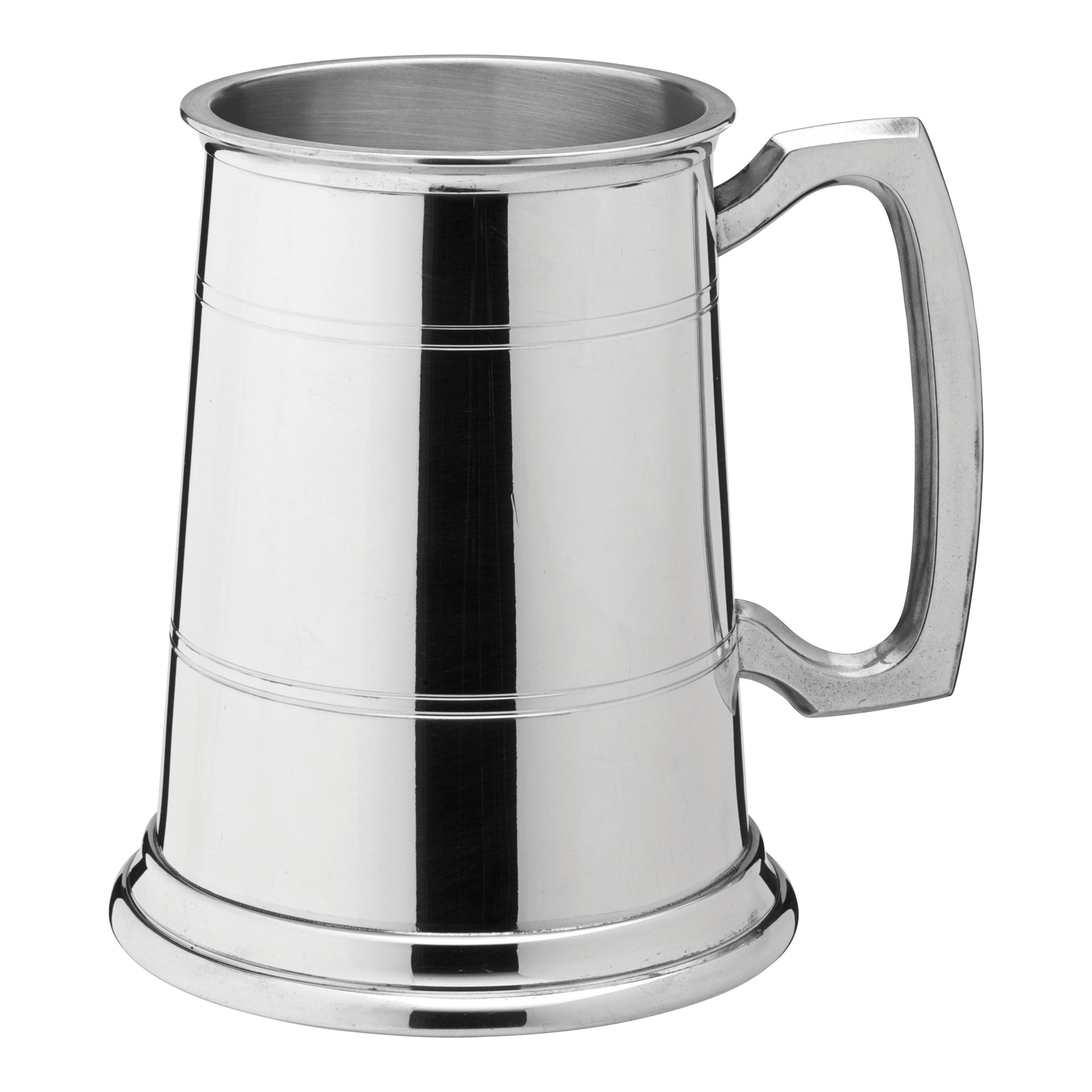 Albany Polished Pewter Tankard at drinkstuff.