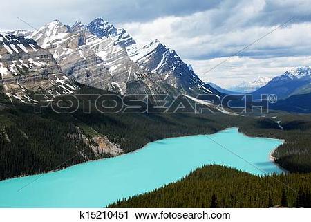 Stock Photography of Peyto Lake,Canadian Rockies,Canada k15210451.
