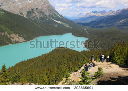 Alberta Banff July Stock Photos, Royalty.