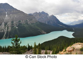 Pictures of Peyto Lake Alberta Canada emerald green color.