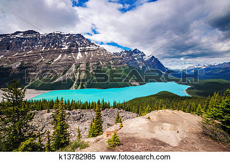 Stock Image of Peyto Lake k13782985.