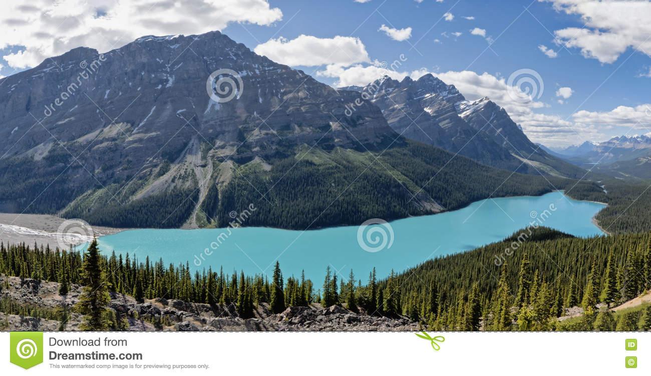 Peyto Lake, Alberta, Canada Stock Photo.
