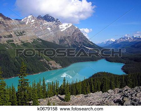 Pictures of Peyto Lake k0679158.