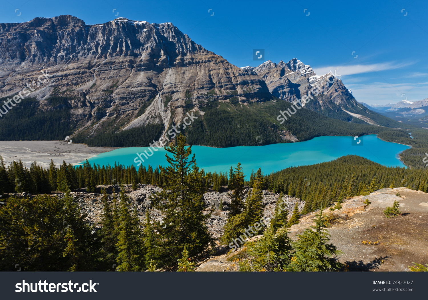Peyto Lake, Icefields Parkway, Banff National Park, Canadian.
