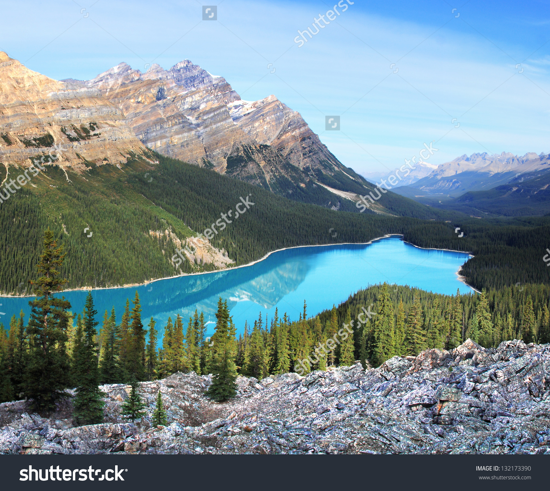 Peyto Lake Caldron Peak Banff National Stock Photo 132173390.