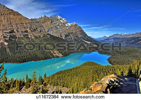 Stock Photo of Peyto Lake, Banff National Park, Alberta, Canada.
