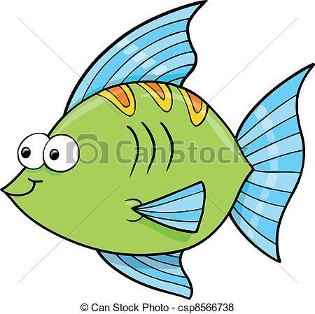 Vector of Cute Goofy Fish Ocean Vector Illustration csp8566738.