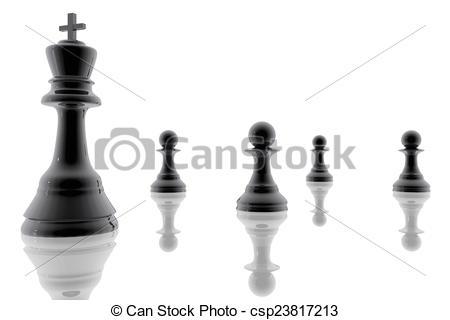 Clipart von Pfänder, koenig, schach.