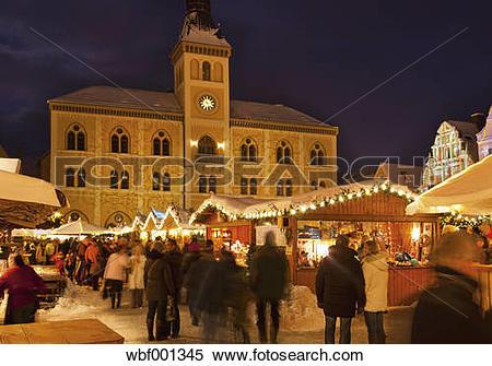 Stock Image of Germany, Bavaria, Christmas Market at Pfaffenhofen.