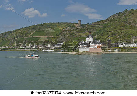 "Stock Photo of ""Pfalzgrafenstein Castle on the Falkenau island or."