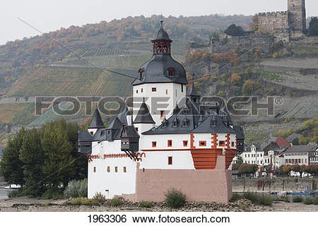Stock Images of Pfalzgrafenstein, A Tall Castle On Falkenau Island.