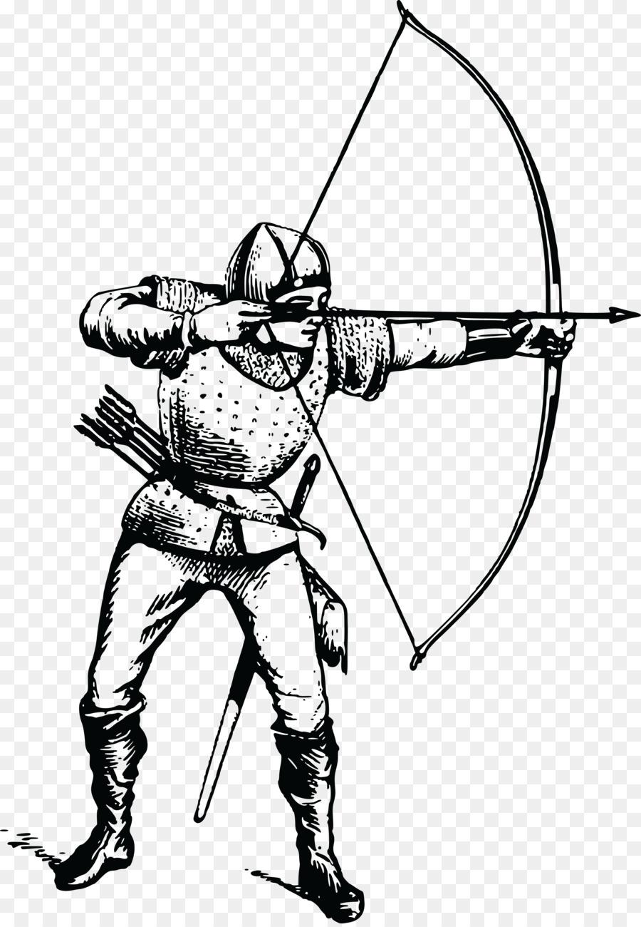 Bogenschießen Pfeil und Bogen clipart.