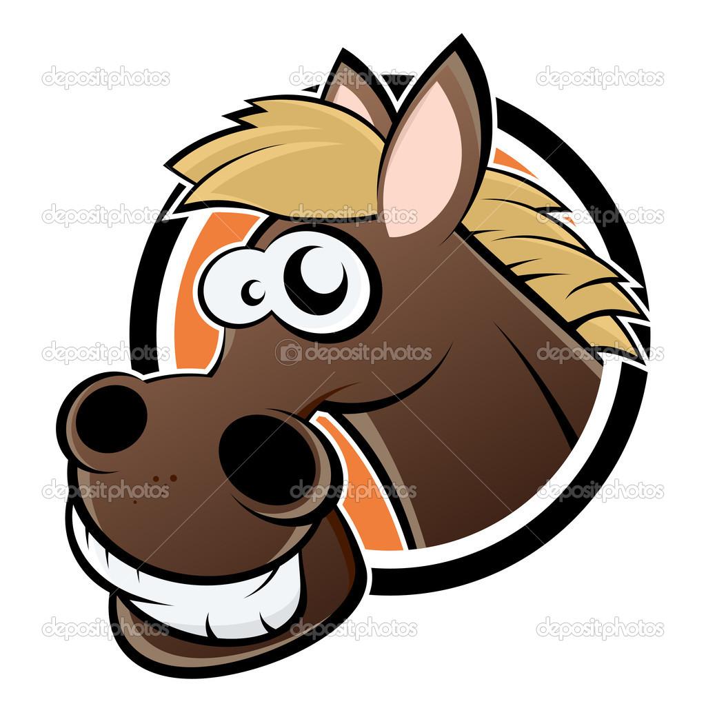 Funny cartoon horse — Stock Vector © shockfactor.de #11897635.