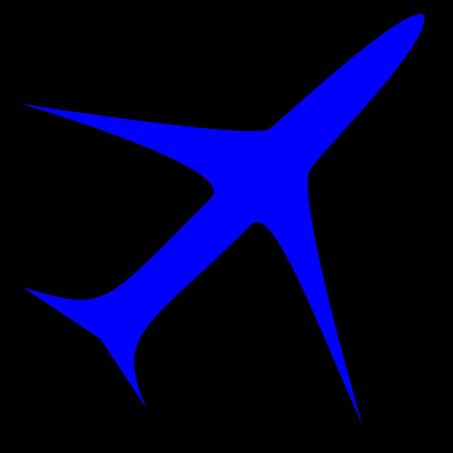 Plane Clip Art Vector.