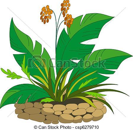 Vektor Clipart von Pflanze, Beeren, Bett.