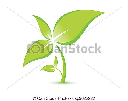 Vektor Illustration von eco, Abstrakt, Pflanze, schablone.