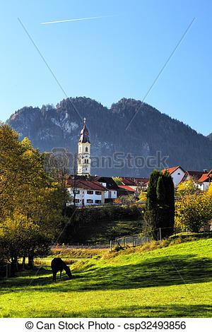 Images de automne, pfronten, paysage.