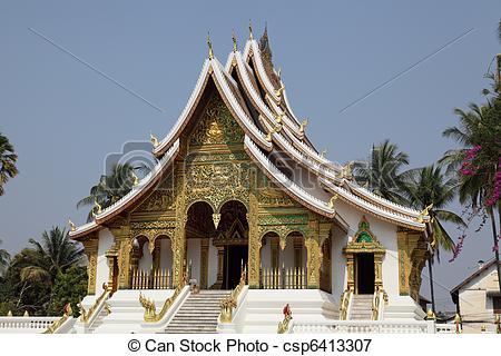 Picture of Wat Pho Pha Bang, Luang Prabang csp6413307.