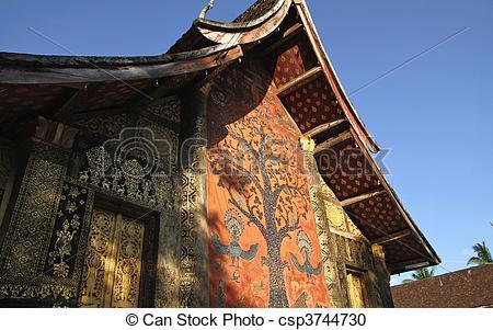 Stock Photography of Luang Phabang.
