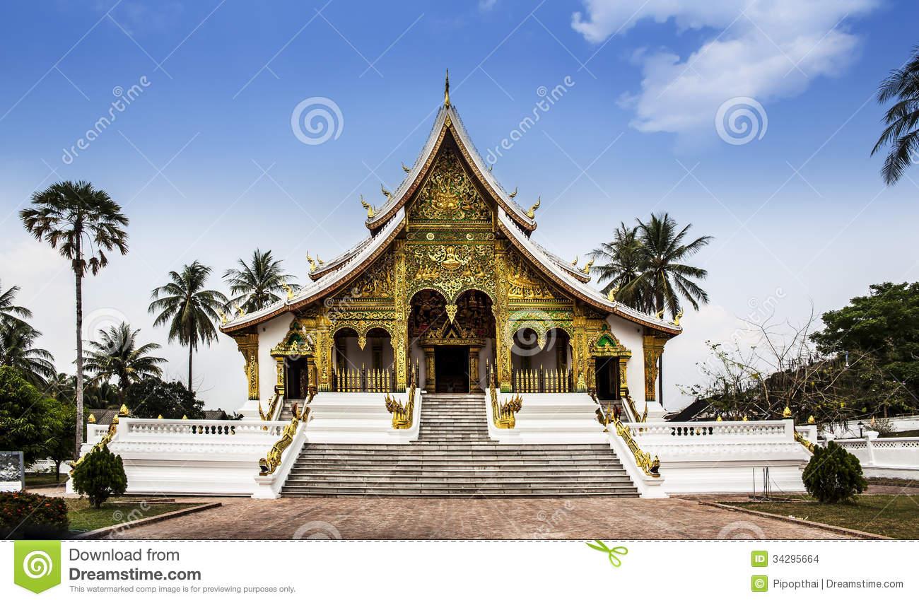 Royal Palace(Haw Kham) & Haw Pha Bang In Luang Prabang, Laos.