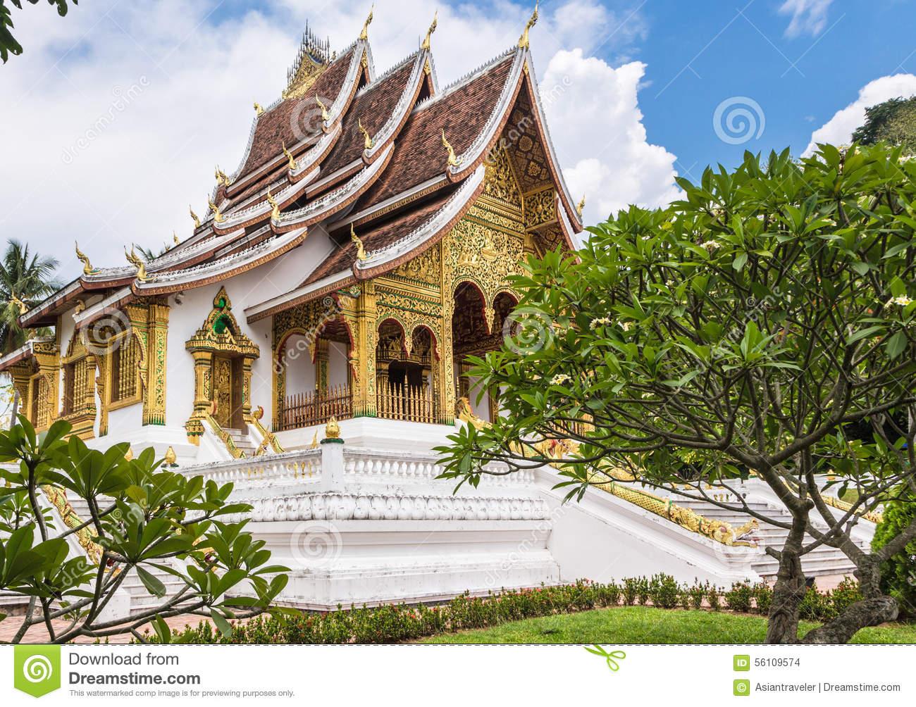 Haw Pha Bang Temple, Laos Royalty Free Stock Images.