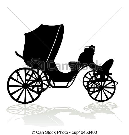 Vector Clipart of Contour phaeton.