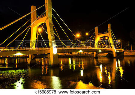 Pictures of Bridges of Phan Thiet City. Low Tide. k15685978.