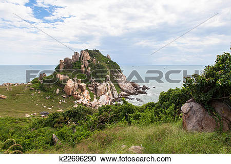 Stock Photography of Ke Ga beach at Mui Ne, Phan Thiet, Vietnam.