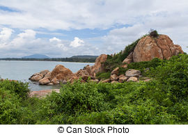 Stock Photographs of Ke Ga beach at Mui Ne, Phan Thiet, Vietnam.
