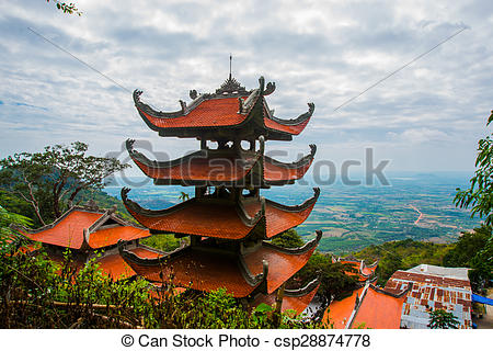 Picture of Pagoda,Temples. Asia. Vietnam.Phan Thiet. summer.