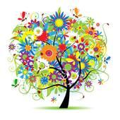 Clipart of Oak tree silhouette k3294360.