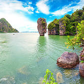 Stock Photo of James Bond island Thailand travel destination.